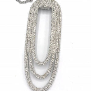 Monet Silver Necklace (B27)1576